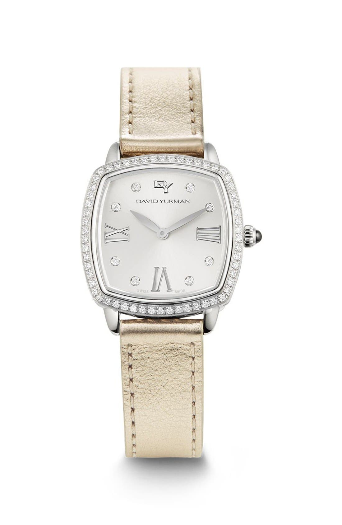 'Albion' 27mm Swiss Quartz Watch with Diamonds,                         Main,                         color, Silver