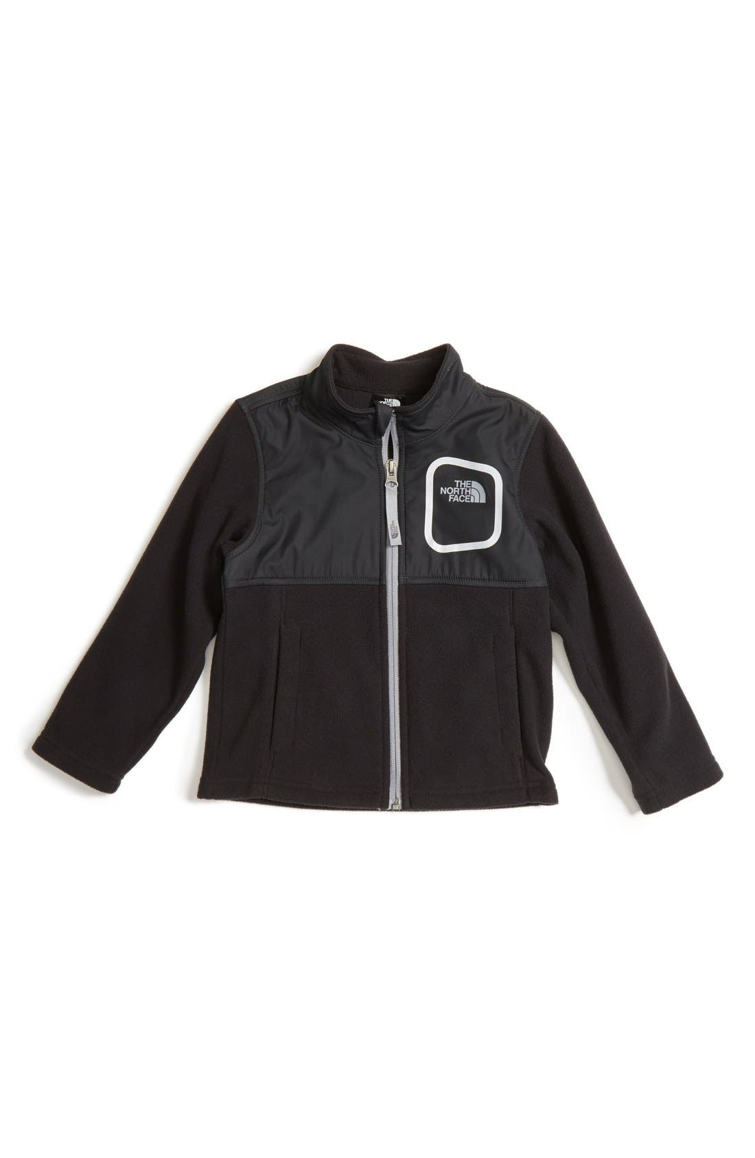 Main Image - The North Face Peril Glacier Microfleece Track Jacket (Toddler Boys & Little Boys)