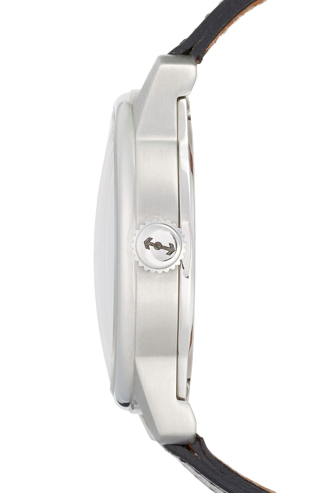 Alternate Image 3  - Weiss Watch Company 'Special Issue' Leather Strap Watch, 42mm