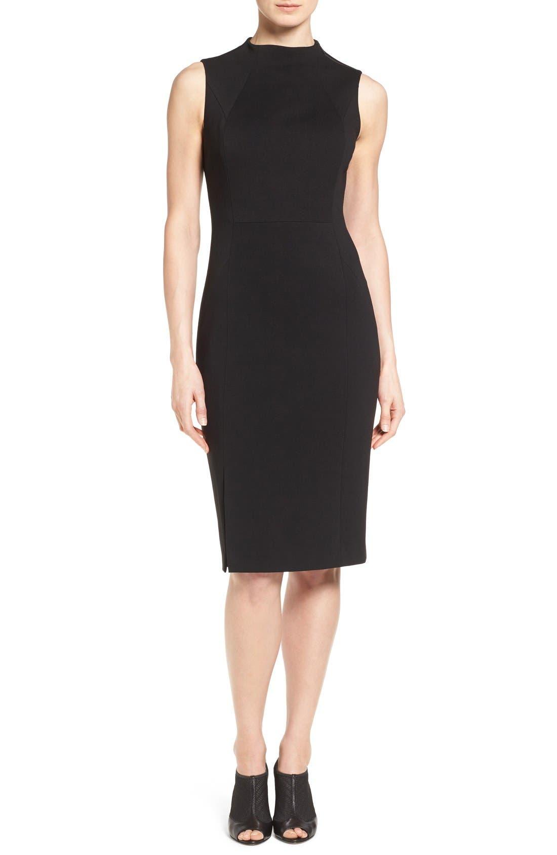 Main Image - Classiques Entier® Funnel Neck Italian Ponte Sheath Dress