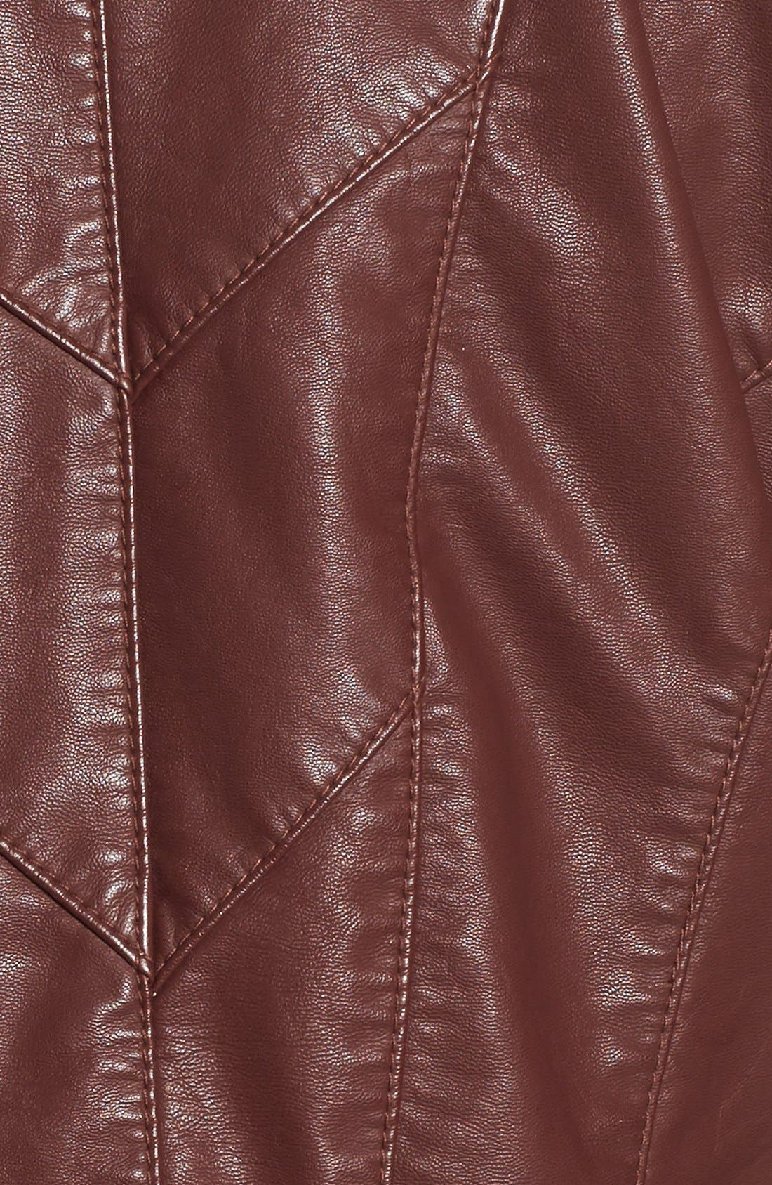 Faux Leather Jacket,                             Alternate thumbnail 7, color,                             Touch And Go