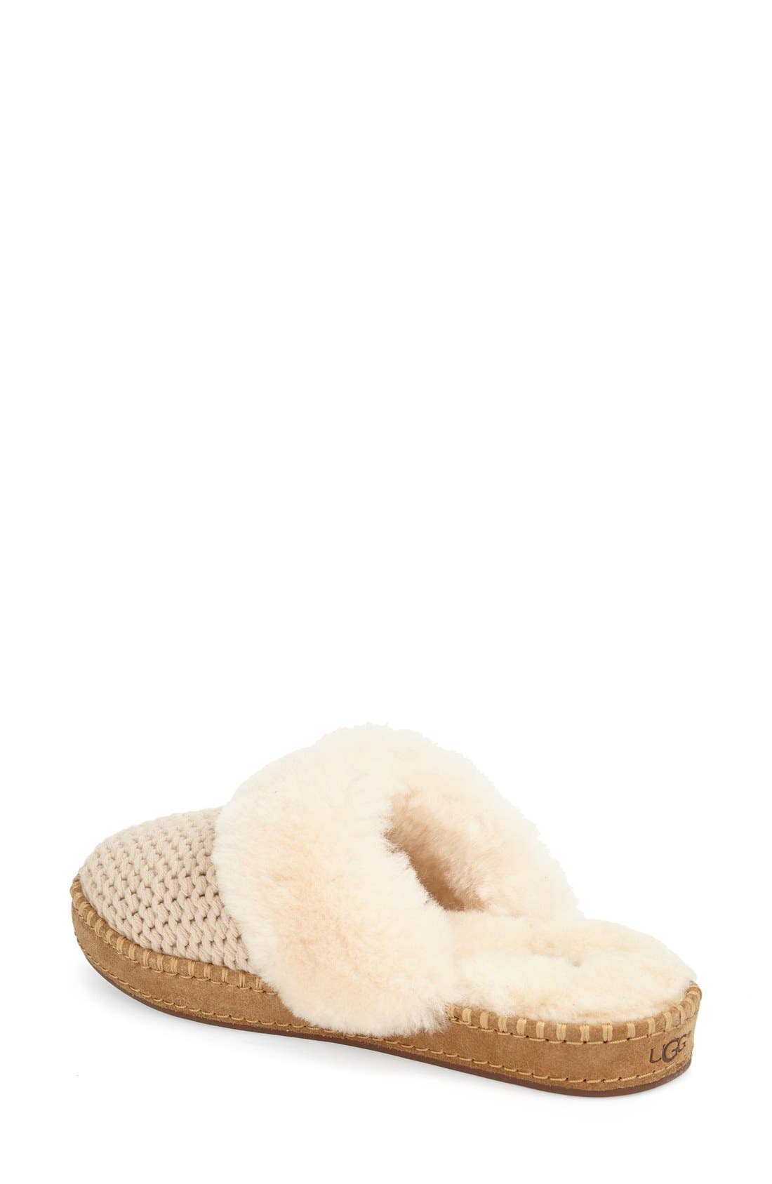 Alternate Image 2  - UGG® Aira Knit Scuff Slipper (Women)