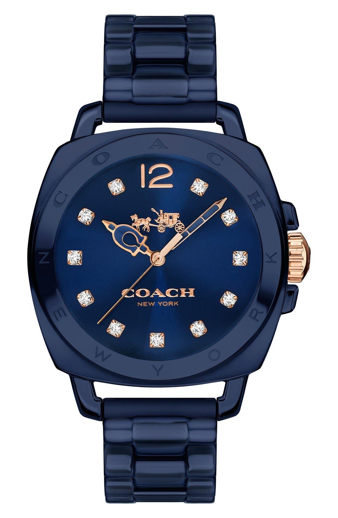 Main Image - Coach 'Boyfriend' Ceramic Bracelet Watch, 34mm