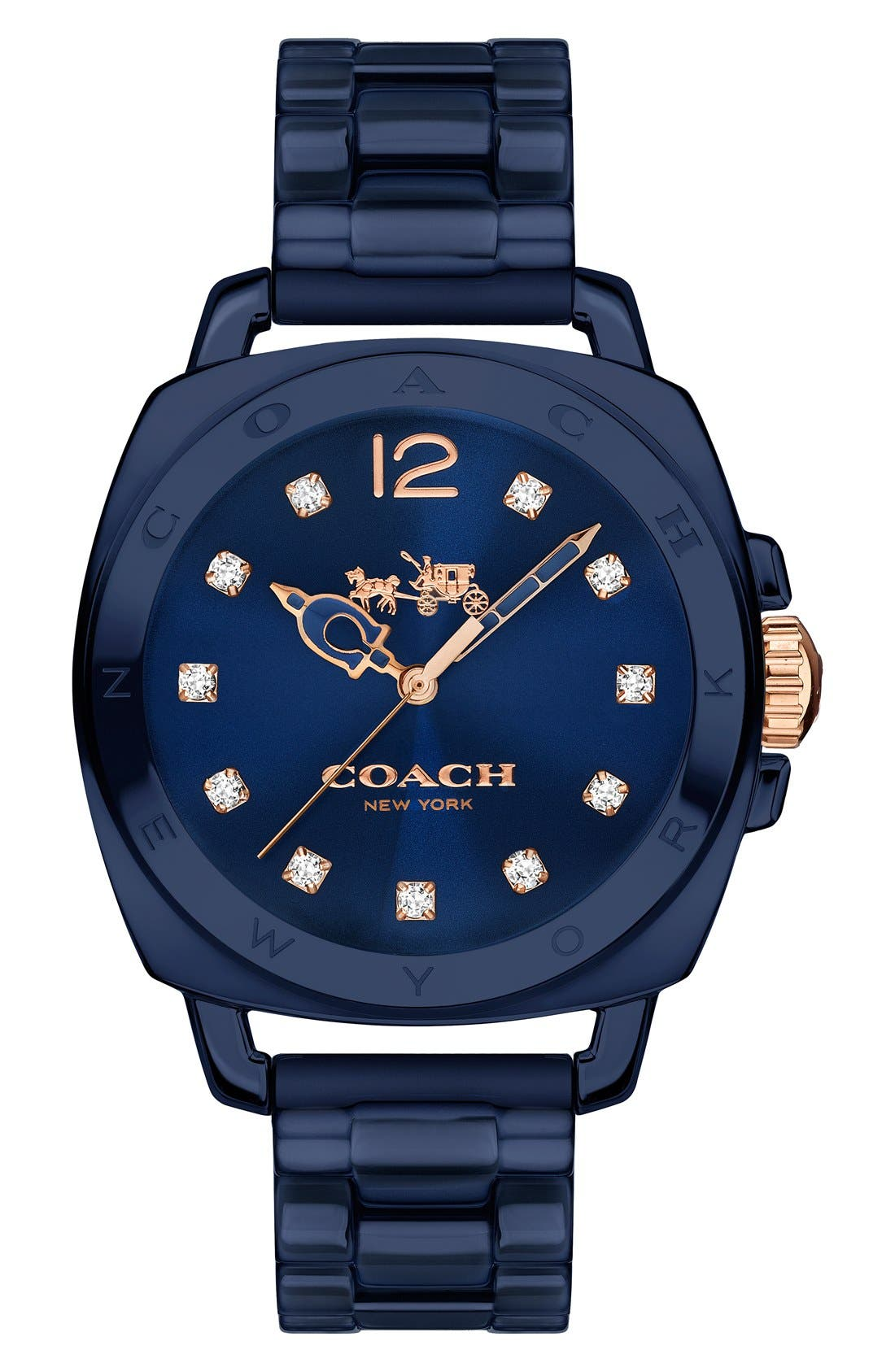 Coach 'Boyfriend' Ceramic Bracelet Watch, 34mm