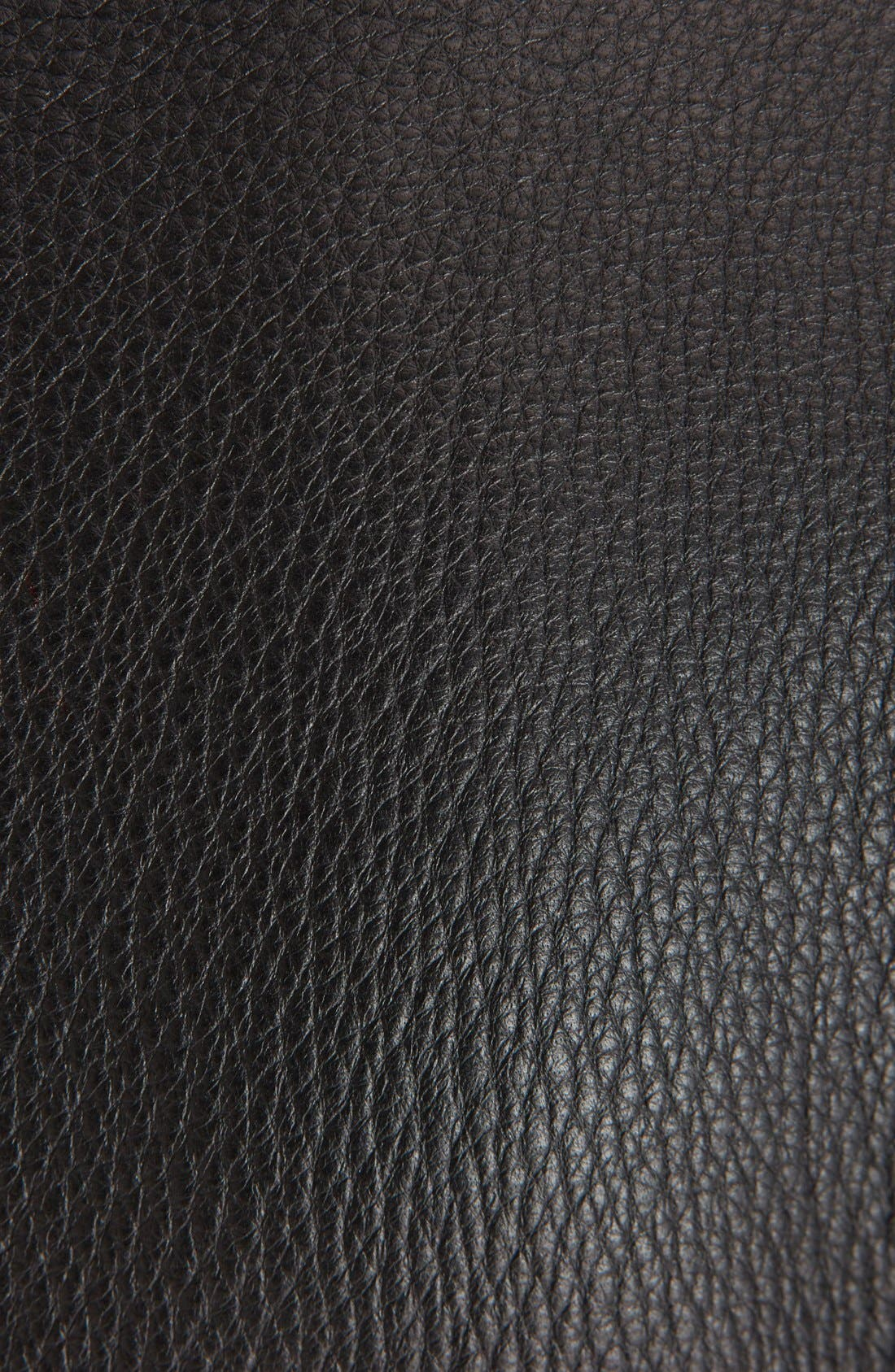 Leather Biker Jacket,                             Alternate thumbnail 3, color,                             Black
