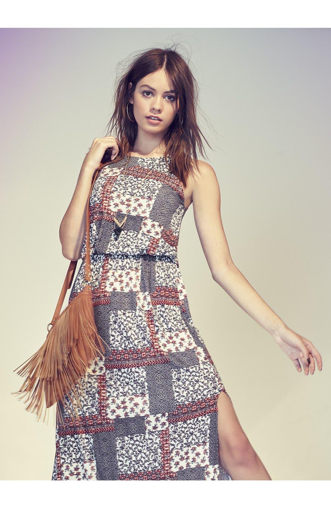 Alternate Image 7  - Lush High Neck Maxi Dress