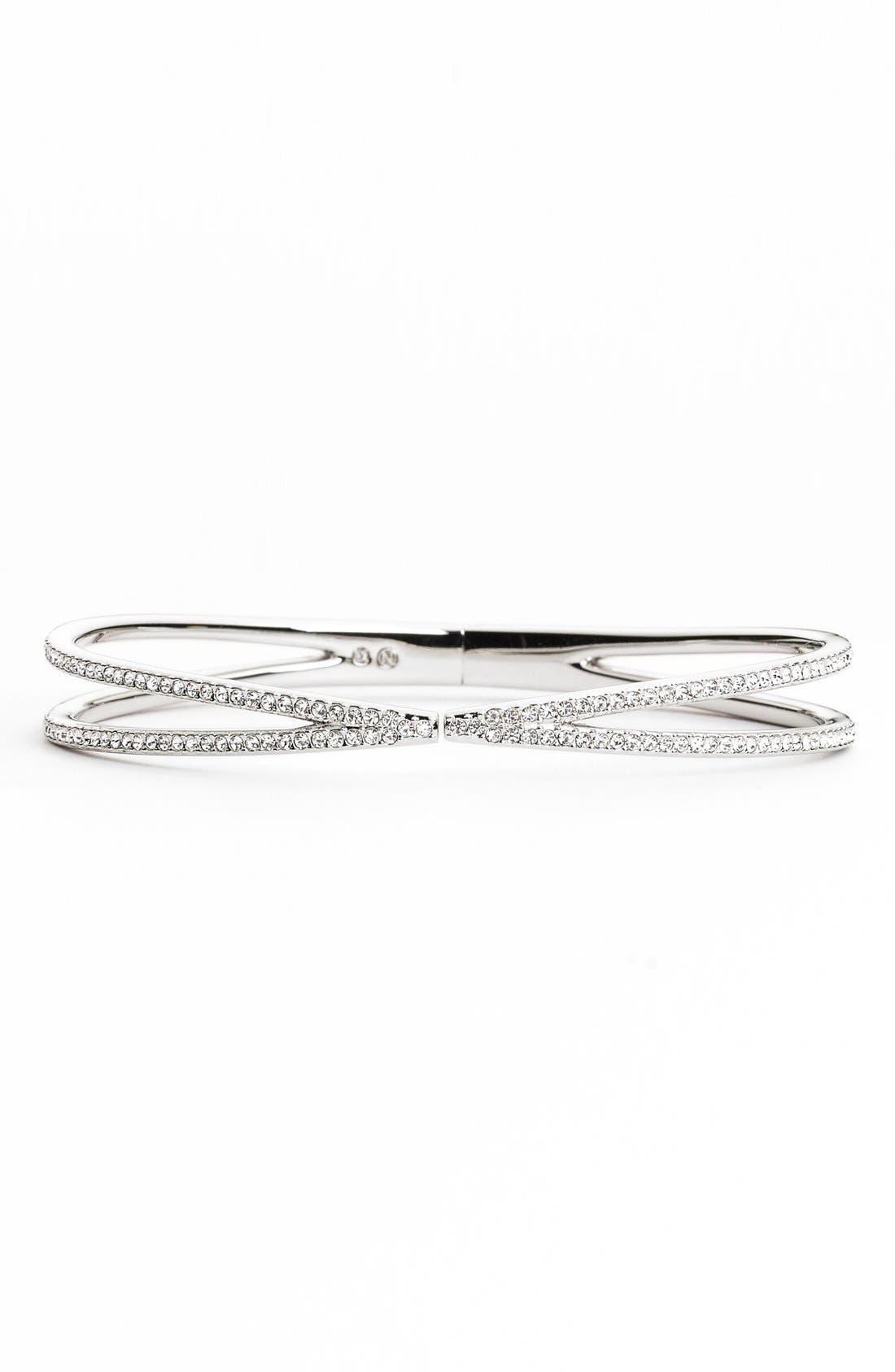 NADRI Pavé Hinged Crossover Bracelet