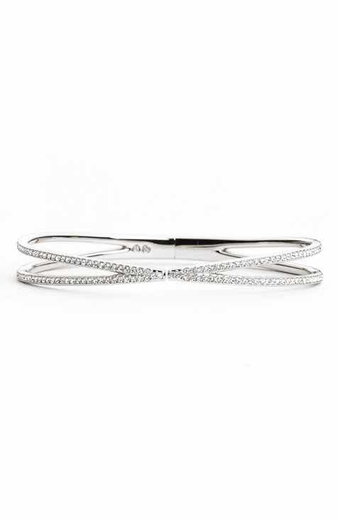 Nadri Pavé Hinged Crossover Bracelet Nordstrom Exclusive