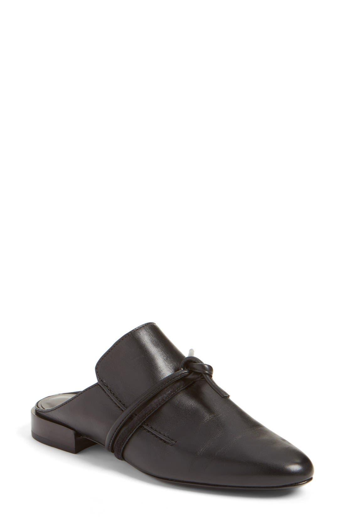 Louie Mule Loafer,                         Main,                         color, Black Box Calf