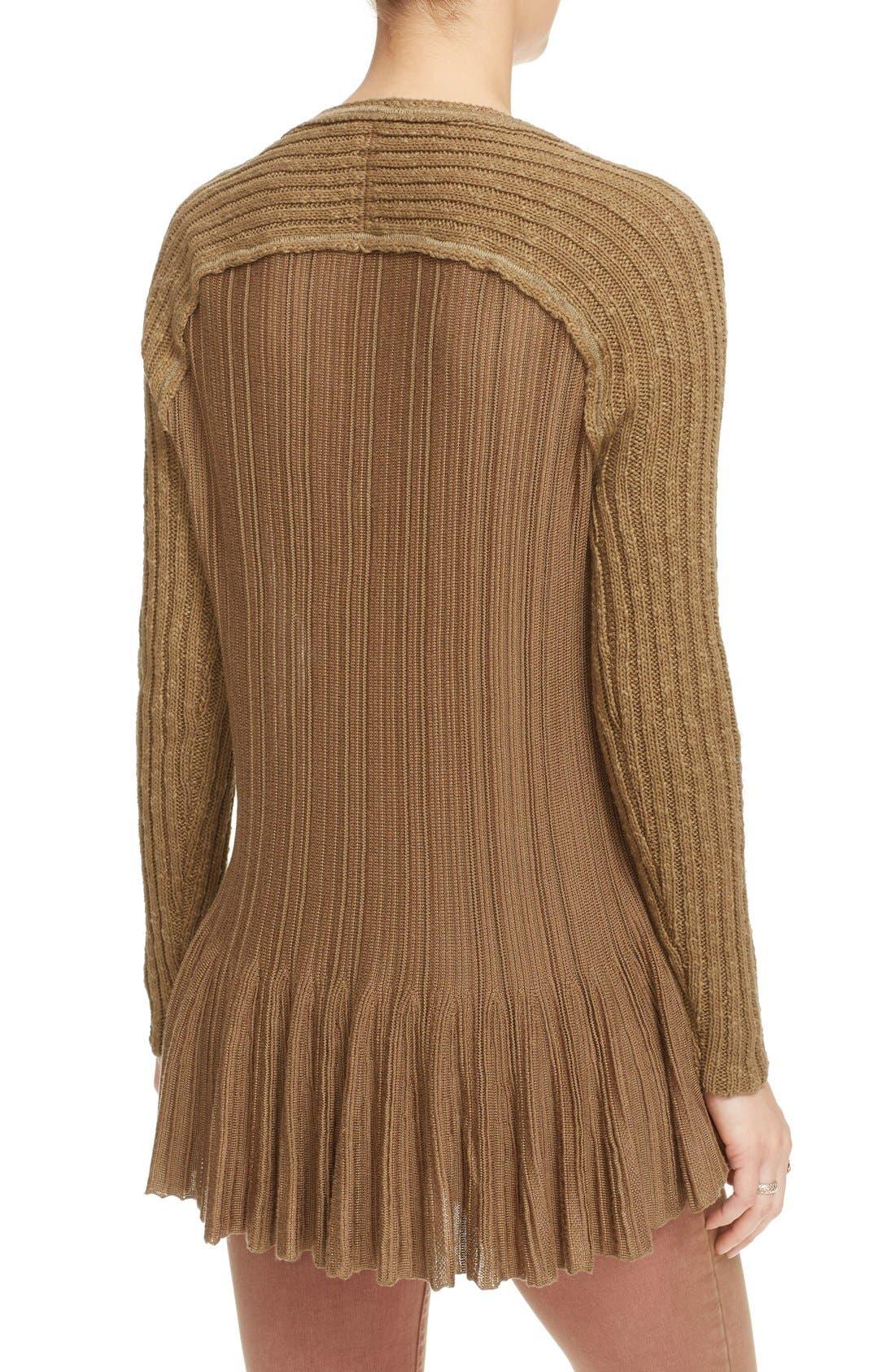Alternate Image 2  - Free People 'Ribs & Ruffles' Knit Peplum Sweater