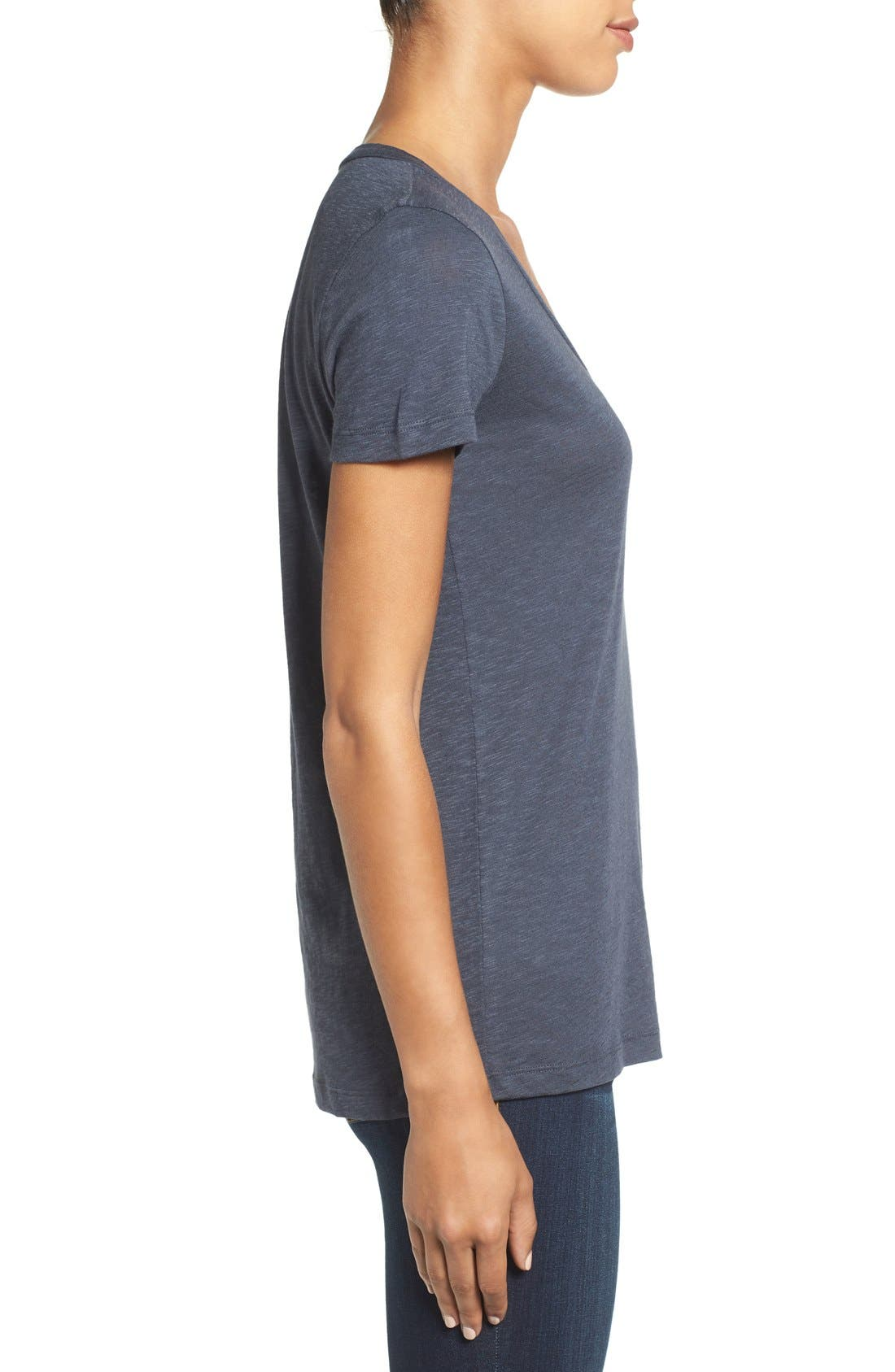 Alternate Image 3  - Caslon® Rounded V-Neck Tee (Regular & Petite)
