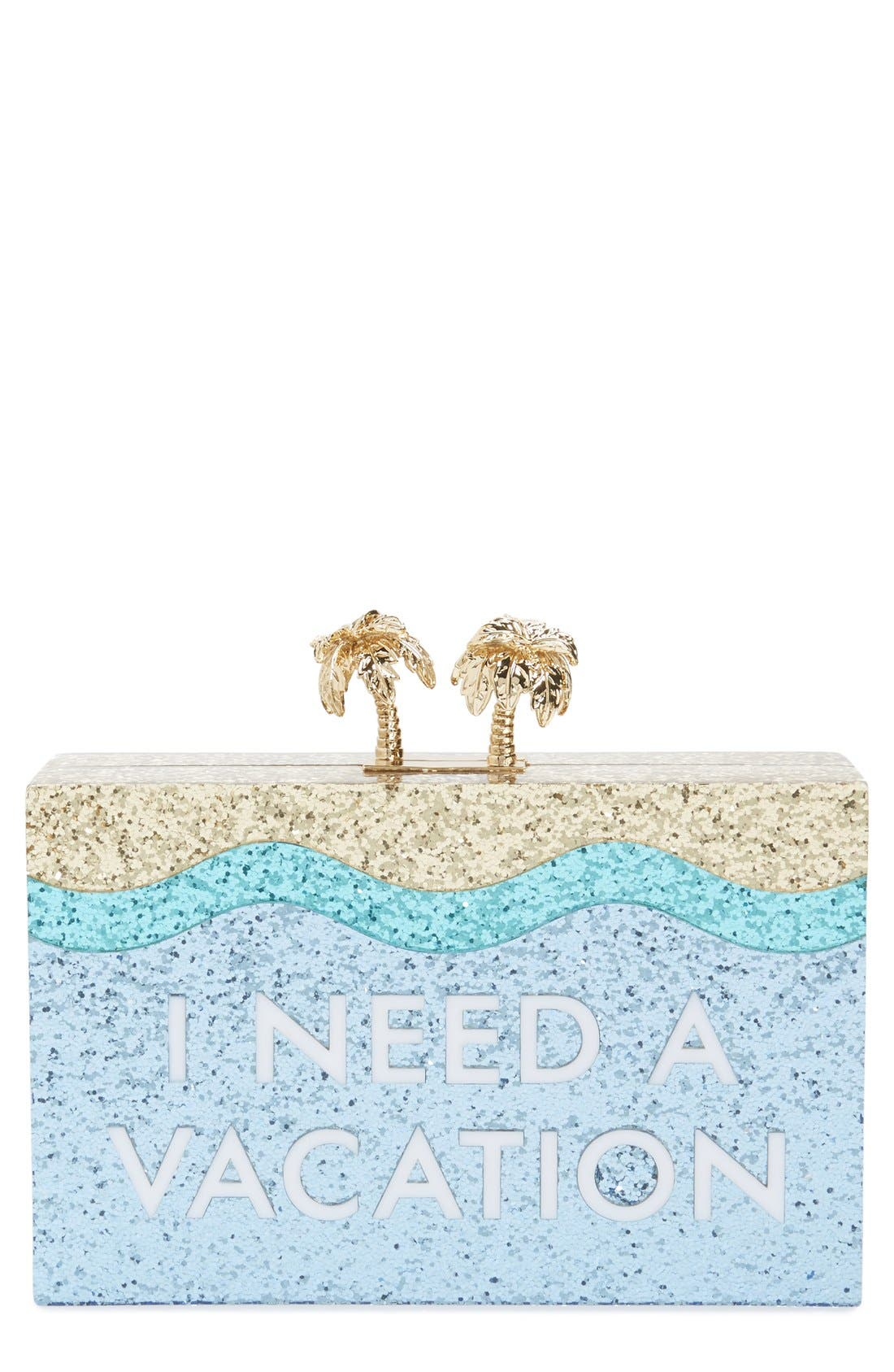 Alternate Image 1 Selected - kate spade new york 'i need a vacation' box clutch