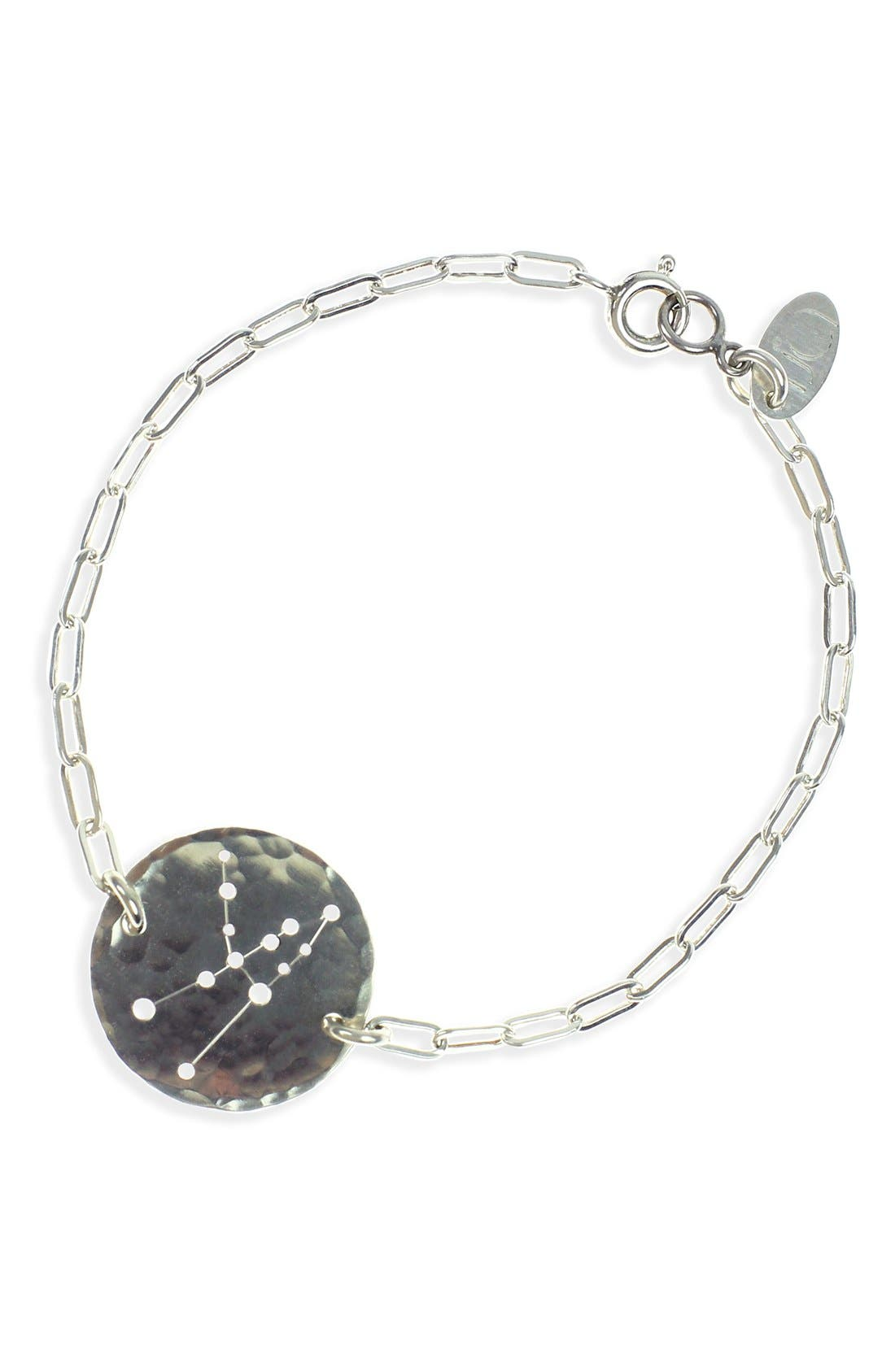 Ija 'Zodiac' Sterling Silver Chain Bracelet,                             Main thumbnail 1, color,                             Sterling Silver Taurus