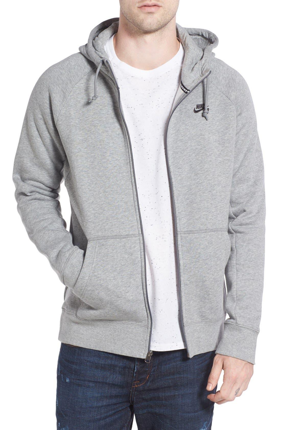 'Icon' Zip Hoodie,                         Main,                         color, Grey
