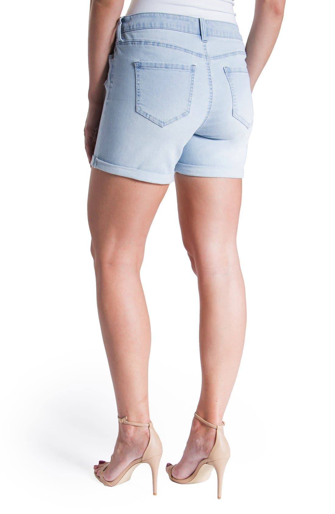 Vickie Denim Shorts,                             Alternate thumbnail 3, color,                             Super Bleach