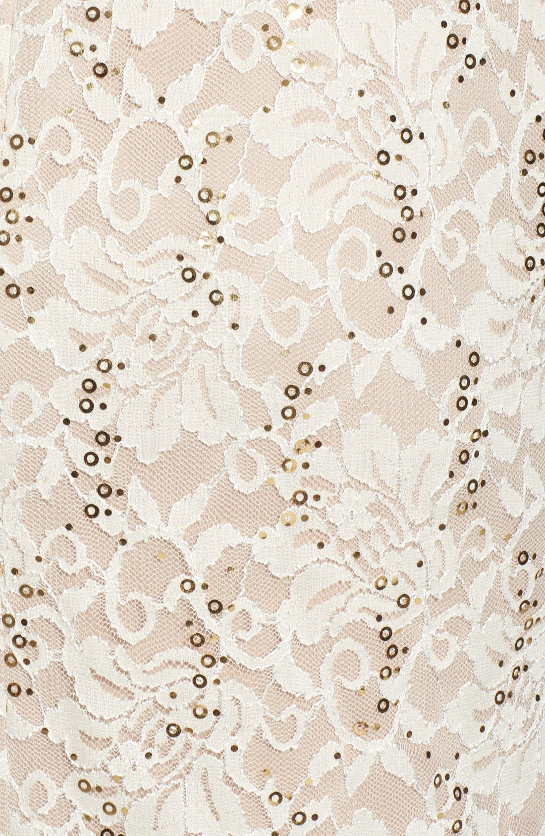 Alternate Image 5  - Morgan & Co. Open Back Lace Dress