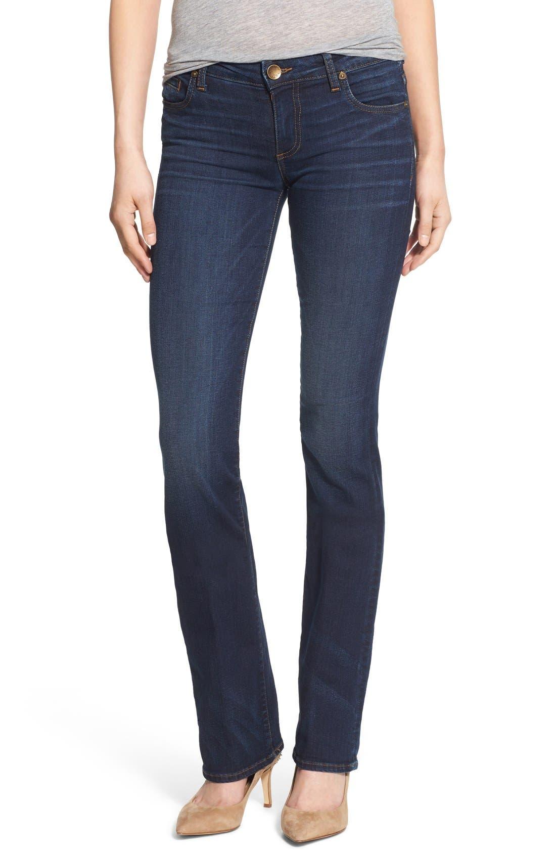 'Natalie' Stretch Bootleg Jeans,                         Main,                         color, Closeness