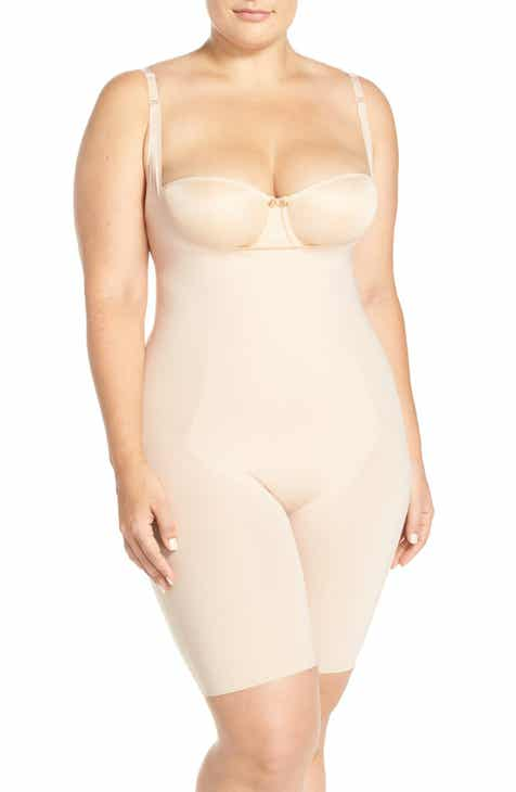 e30f3eb087b SPANX® Thinstincts Open Bust Mid Thigh Bodysuit (Plus Size)