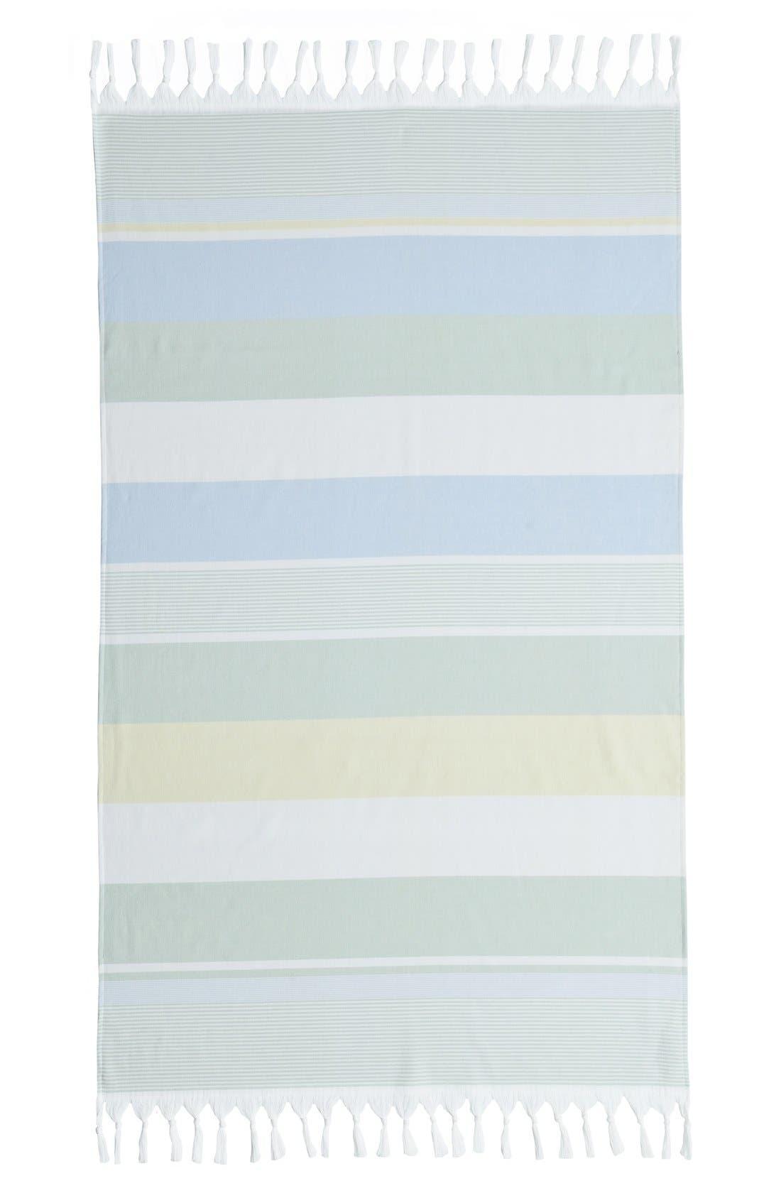 'Summer Loving' Turkish Pestemal Towel,                             Alternate thumbnail 2, color,                             Sky Blue