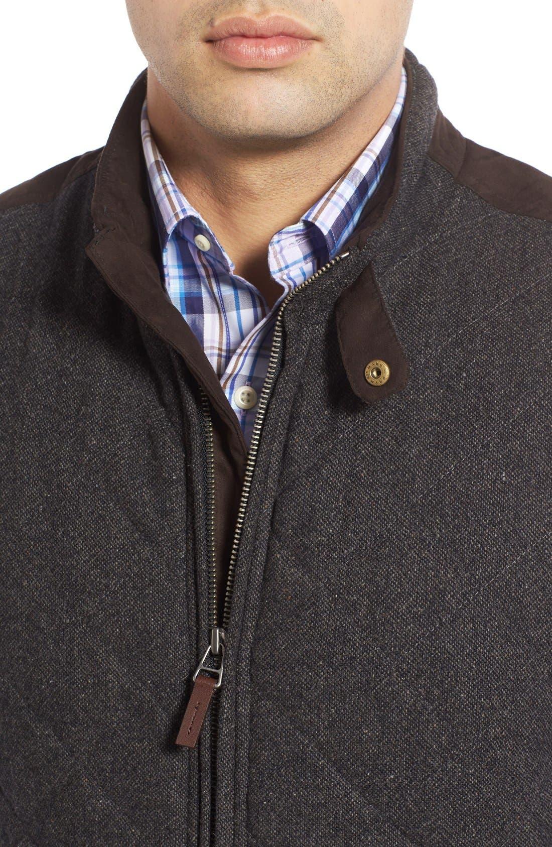 Alternate Image 4  - John W. Nordstrom Regular Fit Quilted Tweed Vest