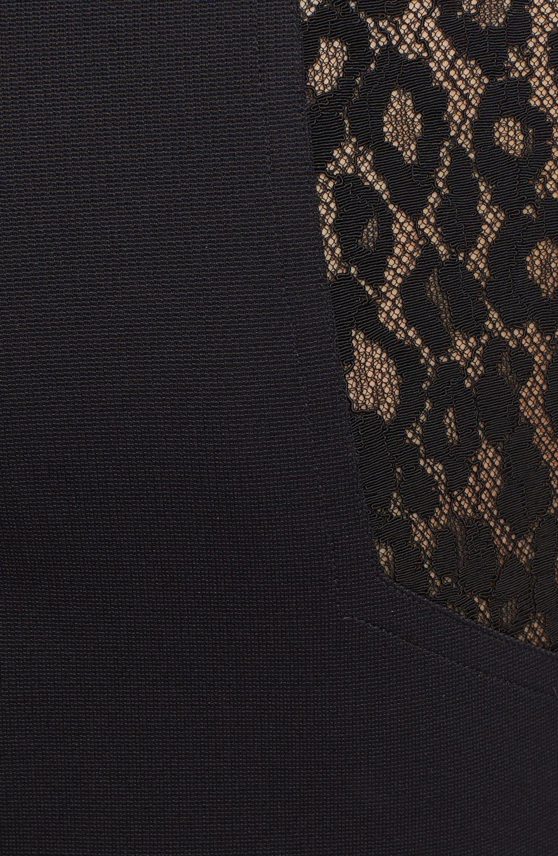 Alternate Image 3  - Roberto Cavalli Lace & Jersey Sheath Dress