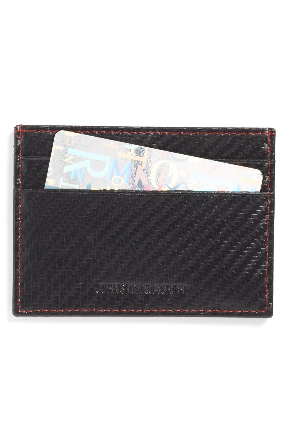 Card Case,                             Main thumbnail 1, color,                             Black