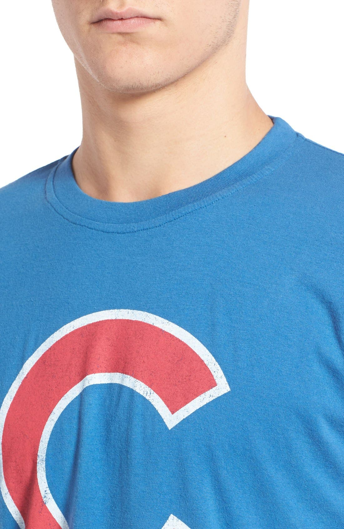 Alternate Image 4  - Red Jacket 'Chicago Cubs - Brass Tacks' Trim Fit T-Shirt