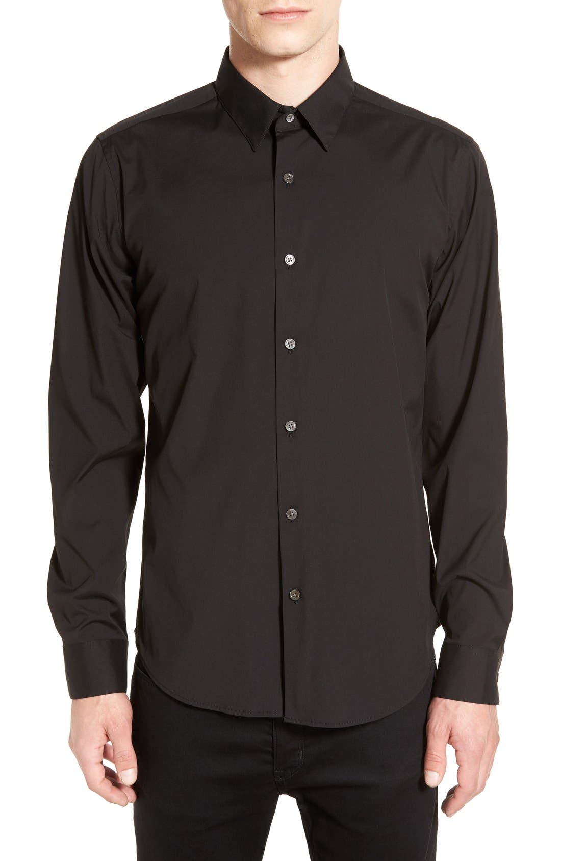 THEORY Sylvain Trim Fit Long Sleeve Sport Shirt