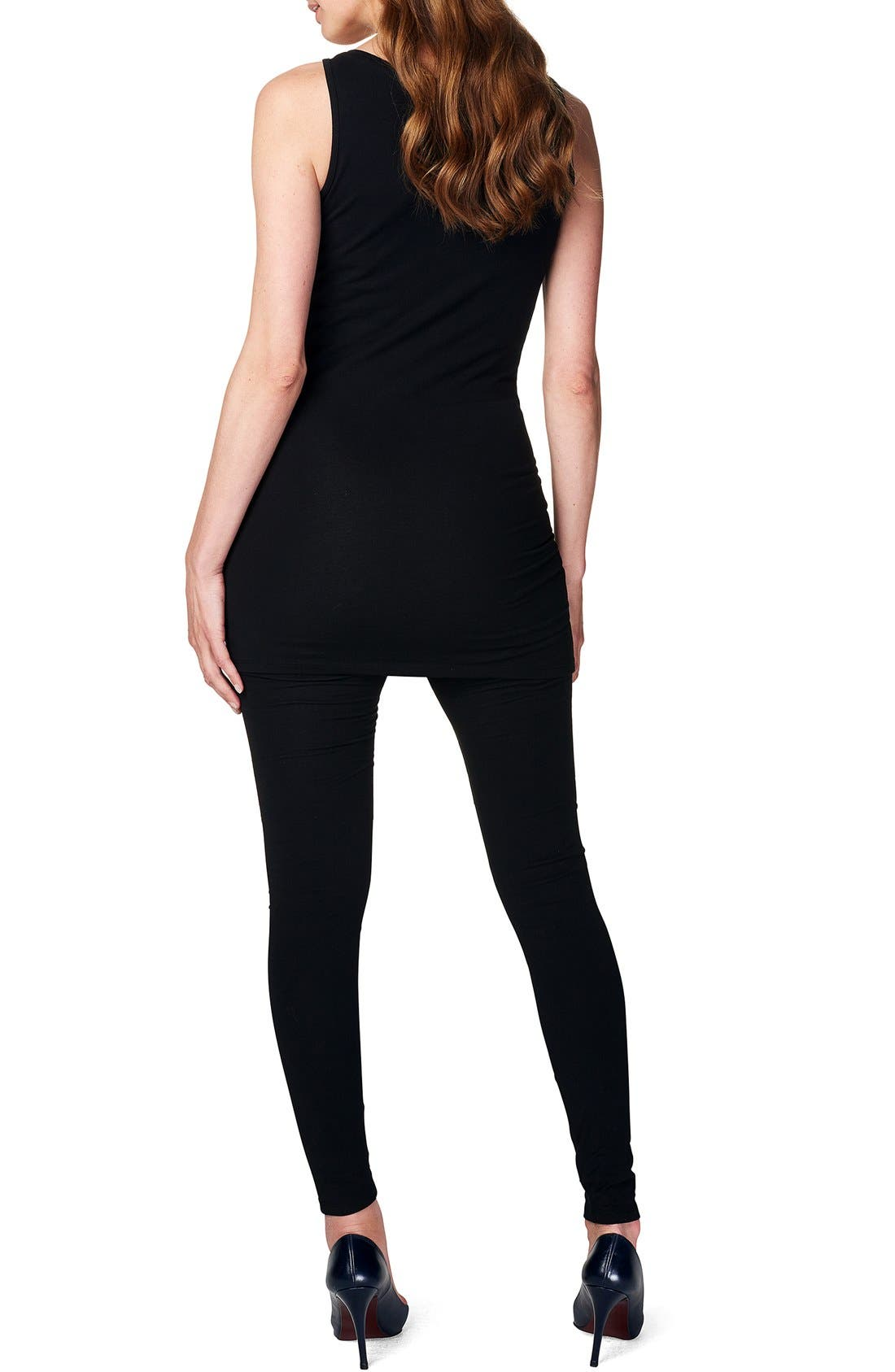 Alternate Image 2  - Noppies 'Amsterdam' Scoop Neck Long Maternity Top