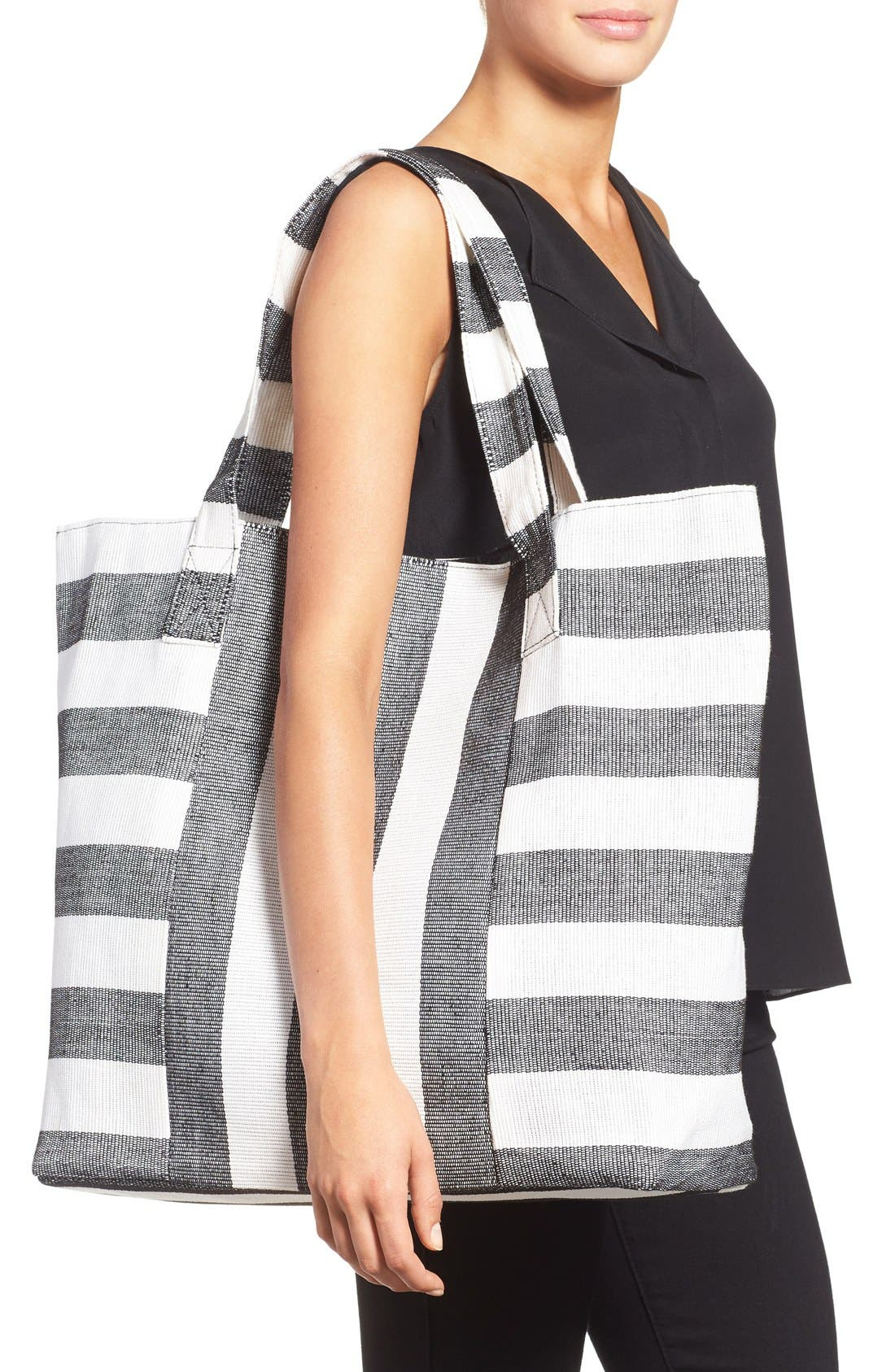 Alternate Image 2  - Cesca Stripe Canvas Tote