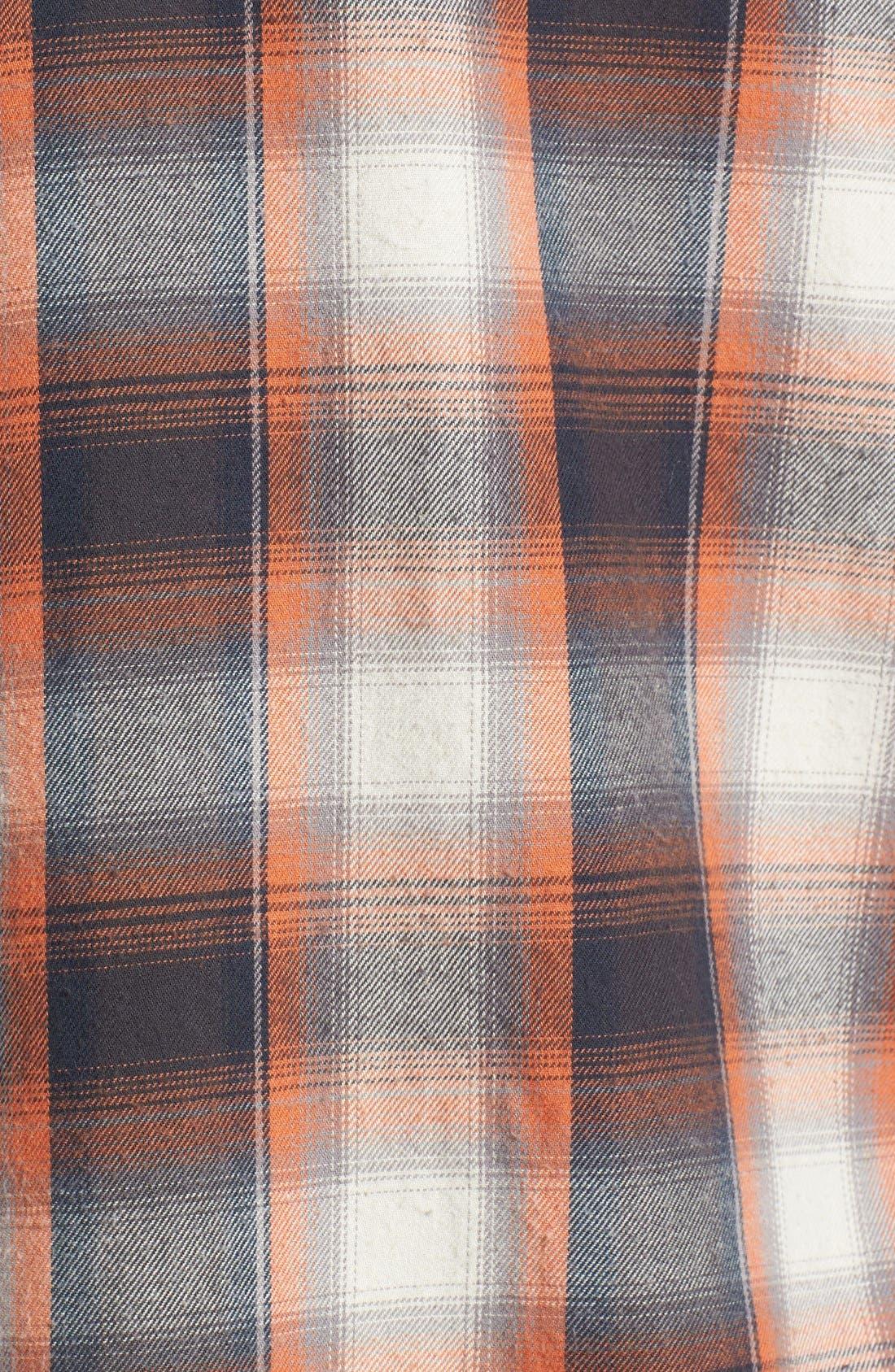 Alternate Image 5  - Rip Curl 'Zarca' Plaid Flannel Shirt