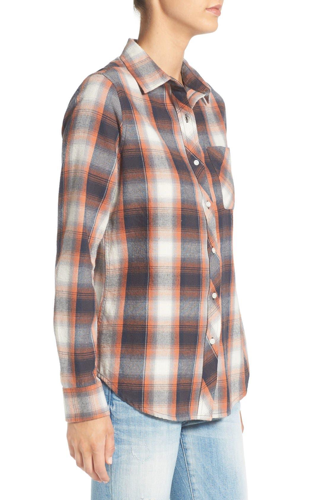 Alternate Image 3  - Rip Curl 'Zarca' Plaid Flannel Shirt