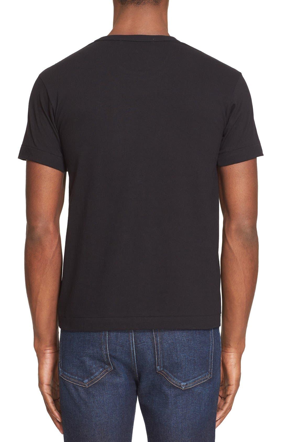 Comme des Garçons PLAY Cotton Jersey Crewneck T-Shirt,                             Alternate thumbnail 2, color,                             Black