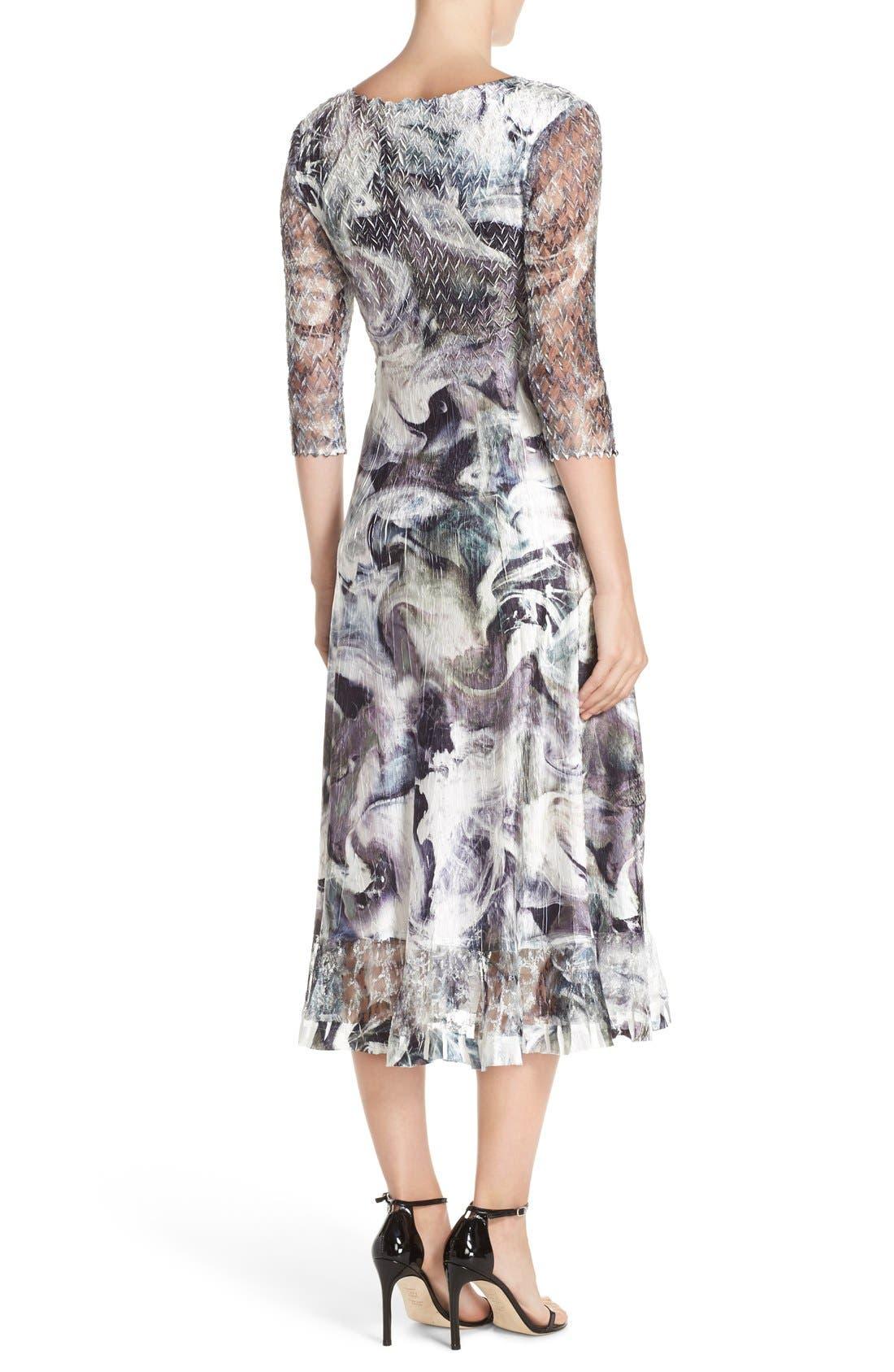 Alternate Image 2  - Komarov Mixed Media Midi Dress