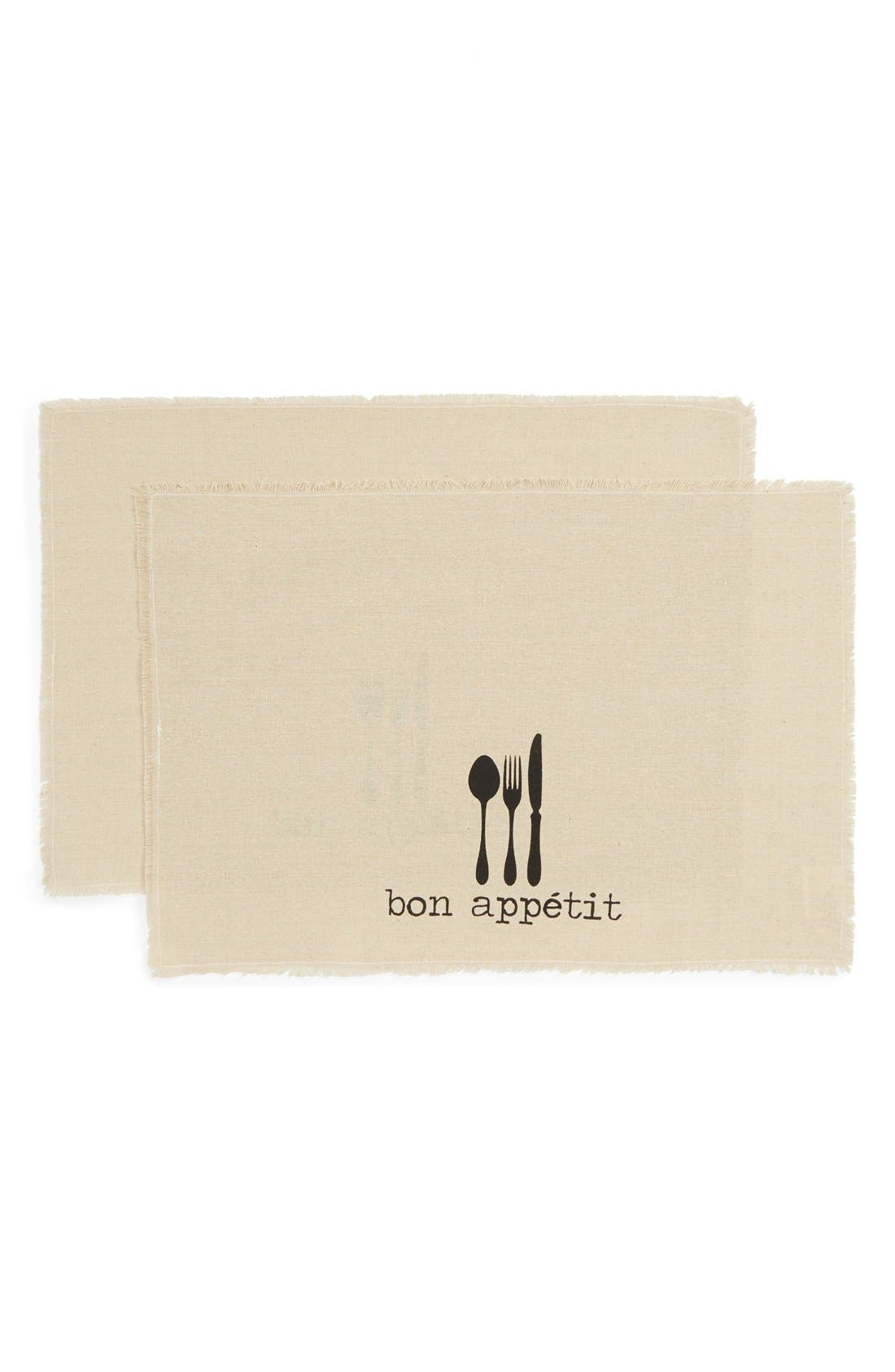 Main Image - Levtex 'Bon Appétit' Burlap Placemats (Set of 2)