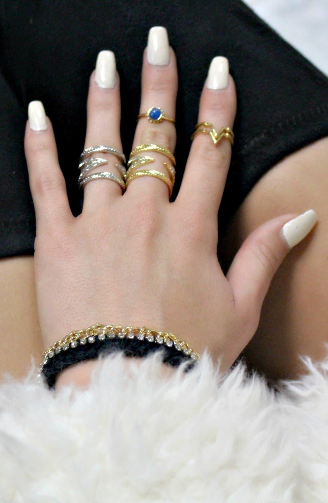 Crystal V Ring,                             Alternate thumbnail 3, color,                             Gold