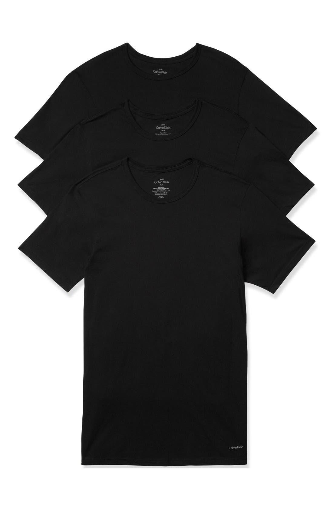 Alternate Image 1 Selected - Calvin Klein Slim Fit 3-Pack Cotton T-Shirt