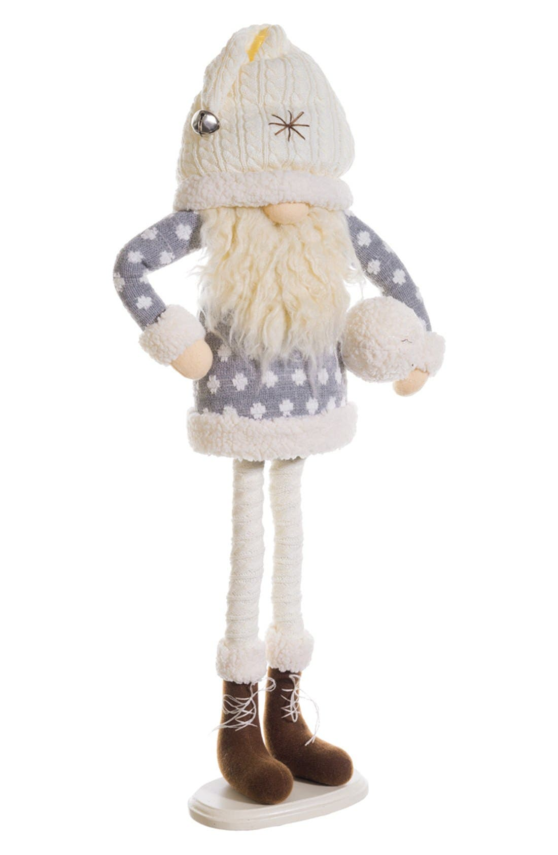 Gnome Figurine,                         Main,                         color, Cream/ Grey