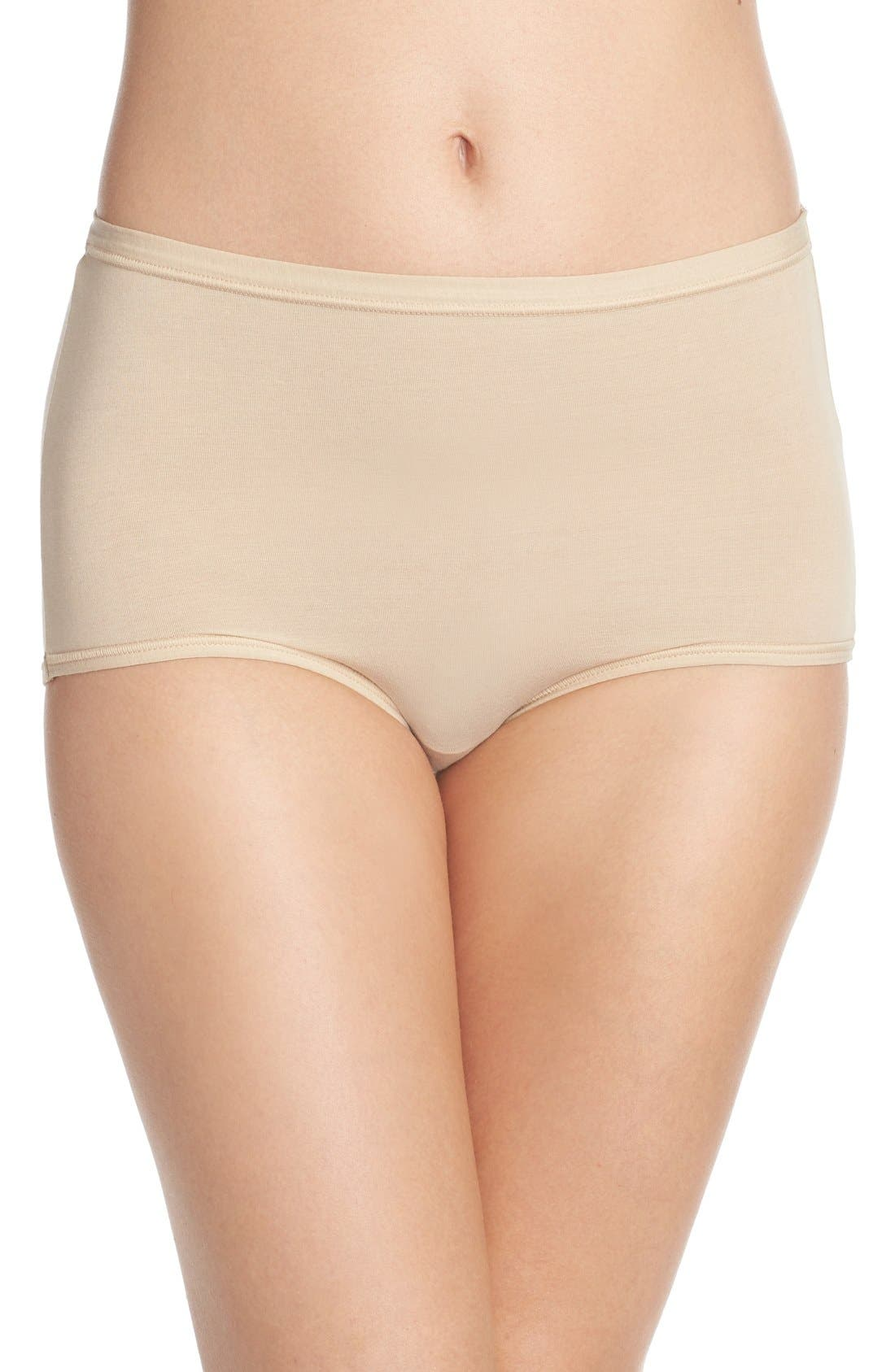 B Fitting Briefs,                             Main thumbnail 1, color,                             Nude