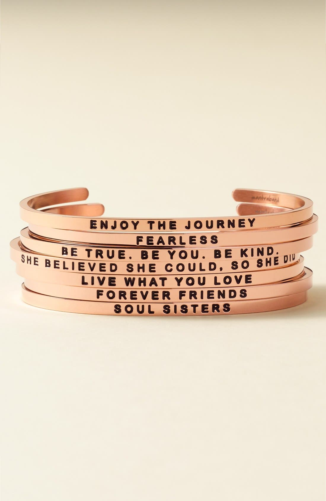 'Enjoy the Journey' Cuff,                             Alternate thumbnail 3, color,
