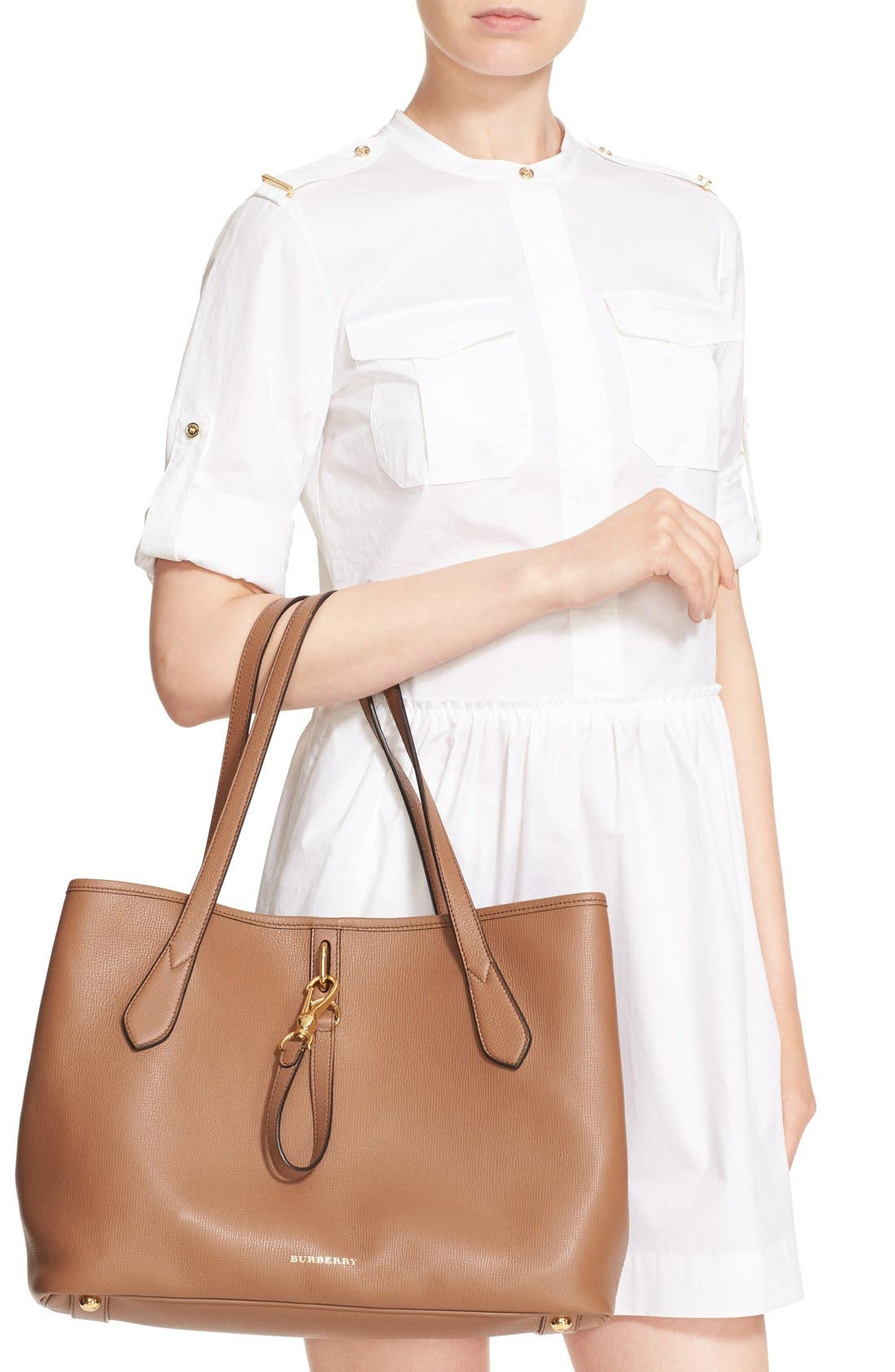 Alternate Image 2  - Burberry 'Medium Honeybrook' Leather Tote