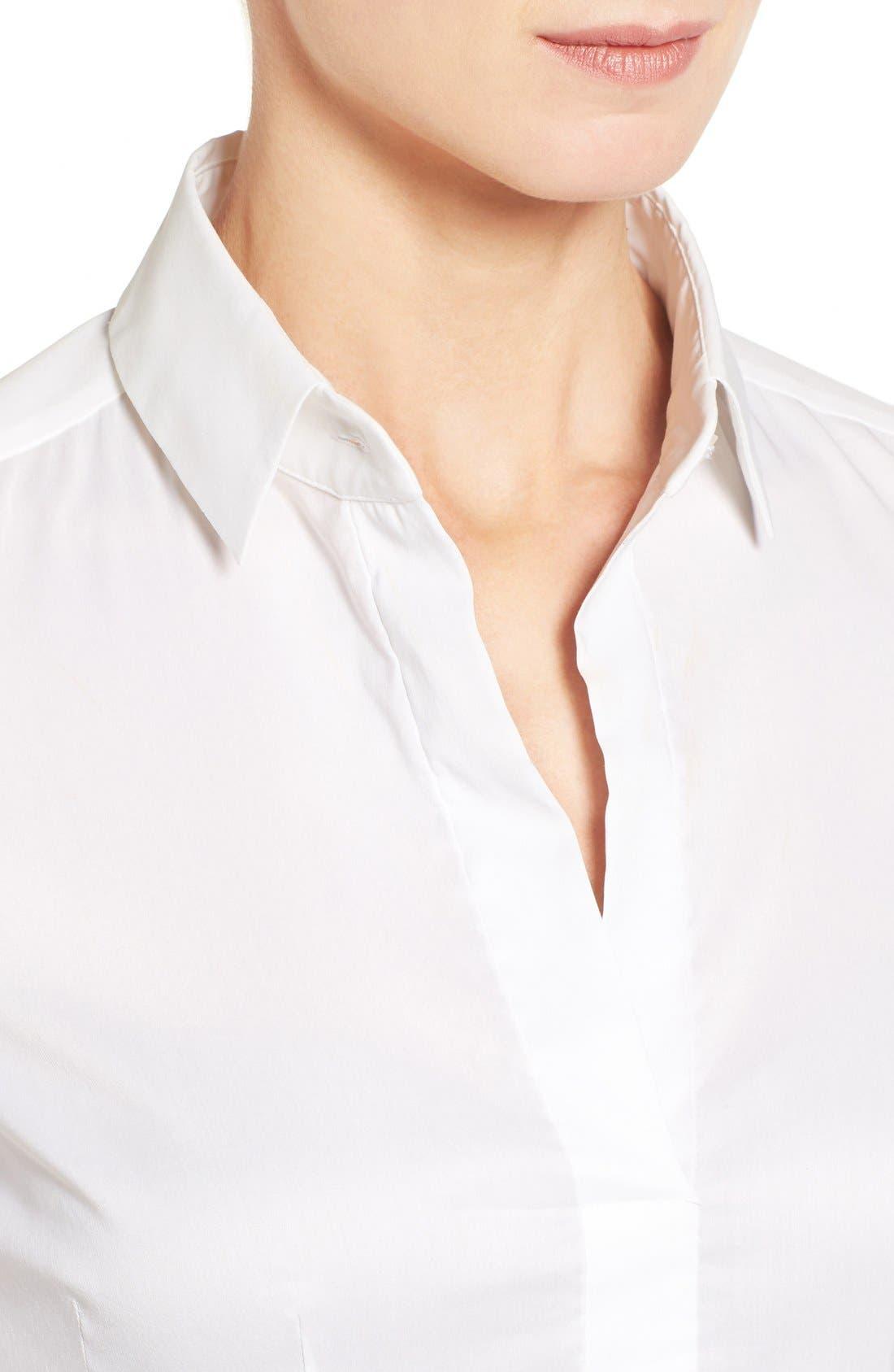 Alternate Image 4  - BOSS 'Bashina' Stretch Poplin Shirt (Regular & Petite)