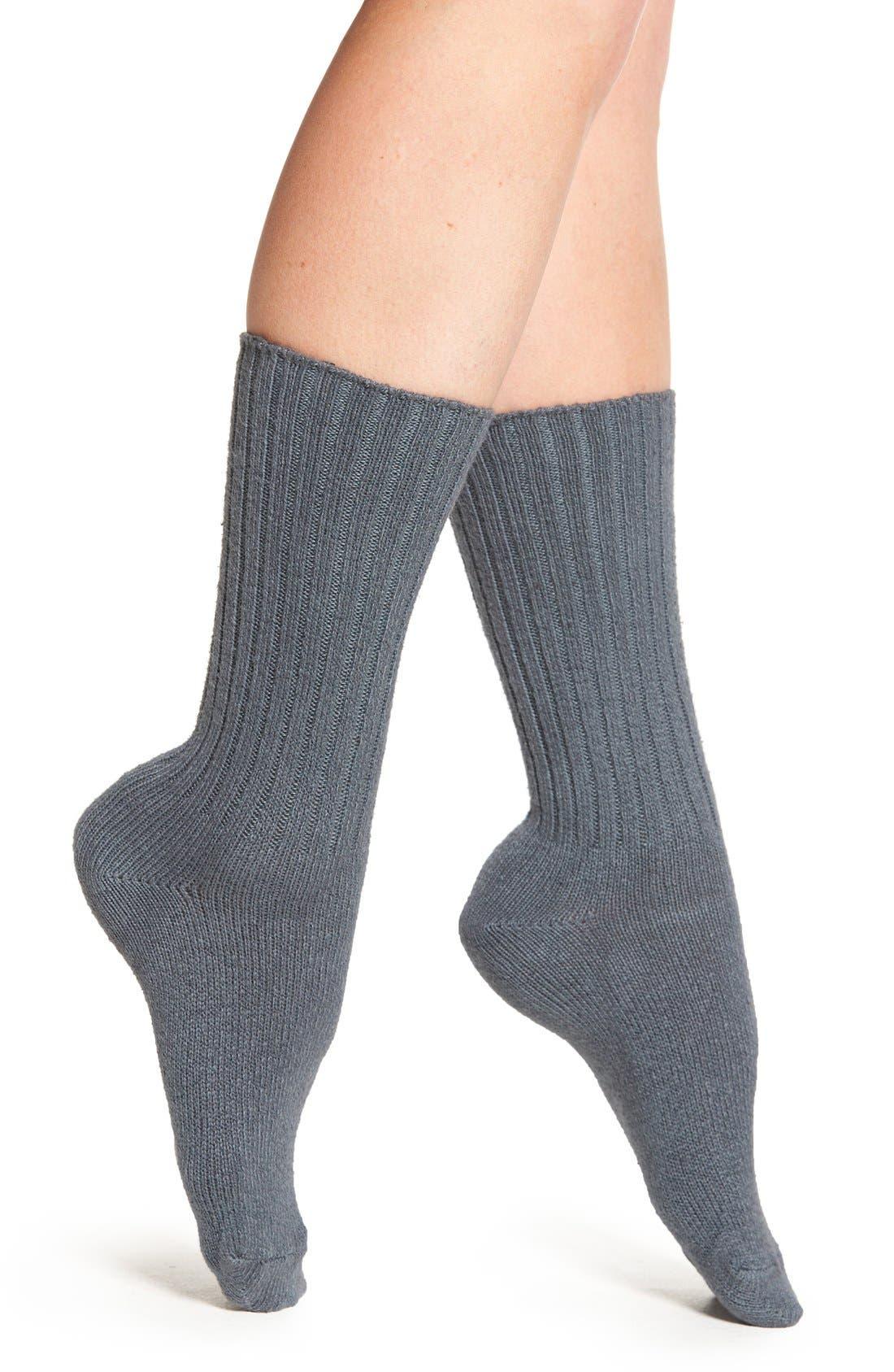 Alternate Image 1 Selected - Hue Ribbed Boot Socks