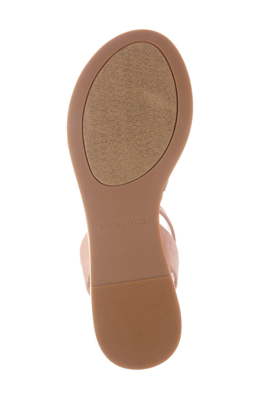 'Demi' Platform Sandal,                             Alternate thumbnail 4, color,                             Blush Suede