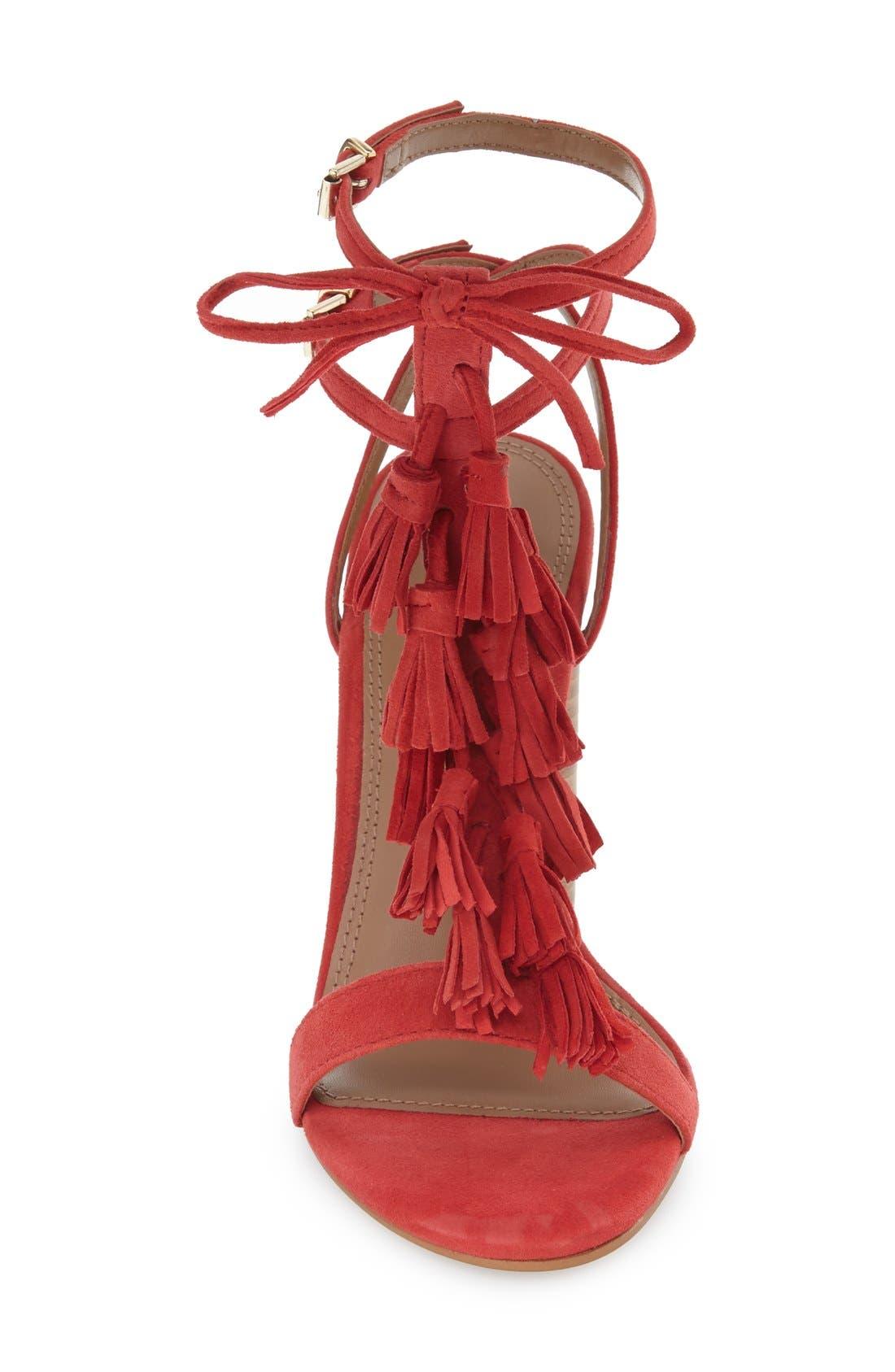 Alternate Image 3  - Topshop 'Ripple' Tasseled Round Heel Sandal (Women)