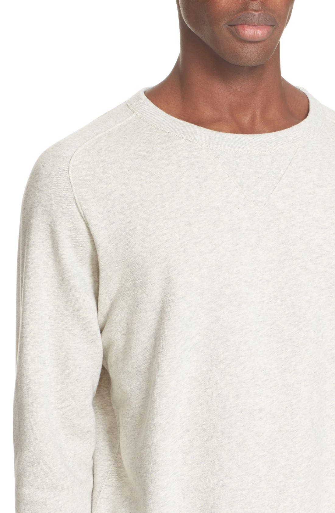 Bay Meadows Sweatshirt,                             Alternate thumbnail 4, color,                             White