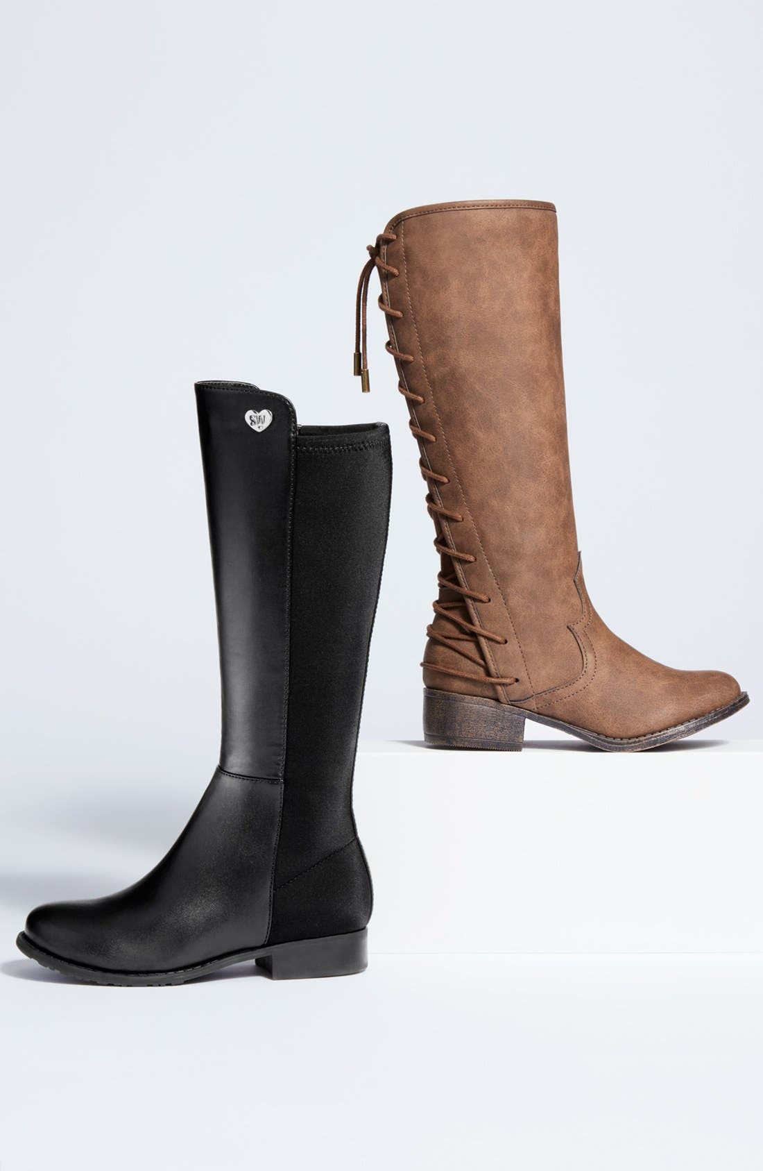 Alternate Image 5  - Stuart Weitzman '50/50' Stretch Back Riding Boot (Walker, Toddler, Little Kid & Big Kid)