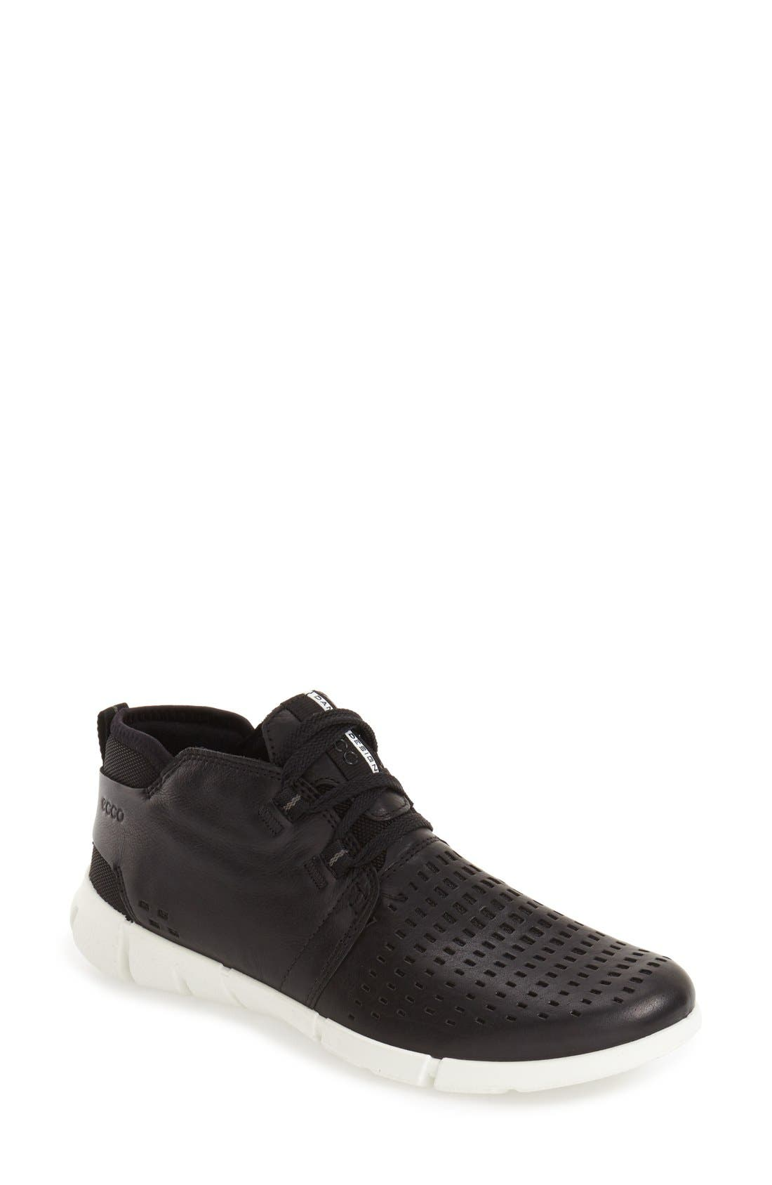 'Intrinsic' Chukka Sneaker,                         Main,                         color, Black Leather