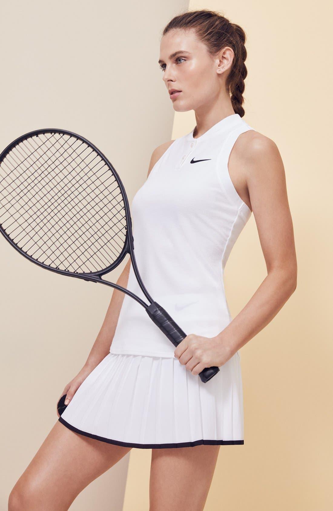 'Victory' Pleat Dri-FIT Tennis Skirt,                             Alternate thumbnail 8, color,