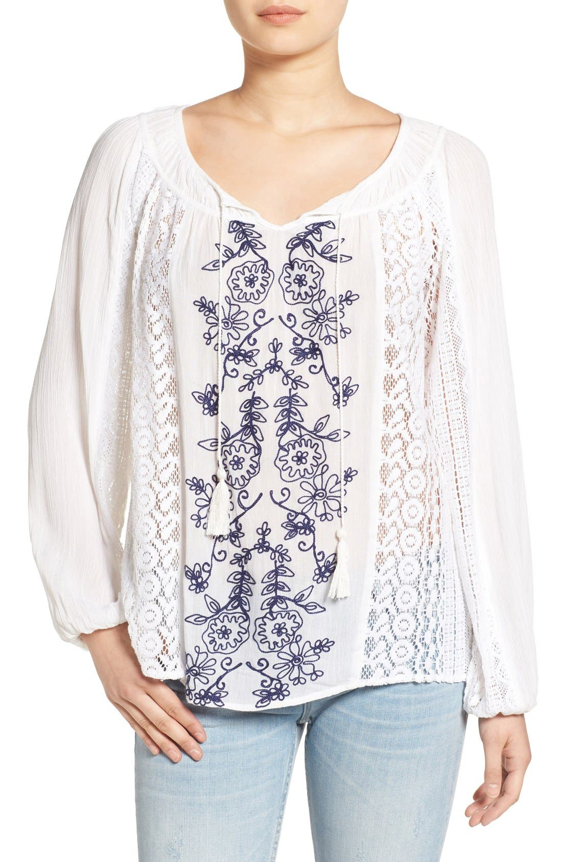 Main Image - O'Neill 'Holland' Embroidered Woven Top